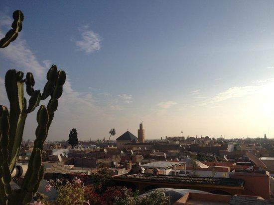 Riad 144 Marrakech : Vue depuis la terrasse, magique
