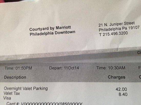 Valet parking annoyance