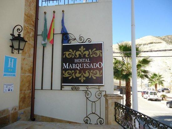 Hostal Marquesado : front of hostal.