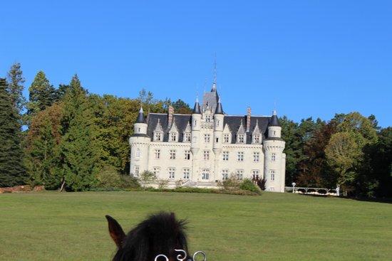 Chateau Hotel Savigny: Vue du château durant la balade en calèche