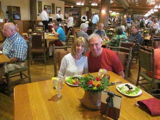 Dobyns Dining Room : James and Karen Celebrating at the Keeter Center