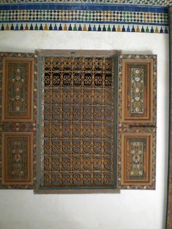 Riad ABHAR: ornate door, riad 1