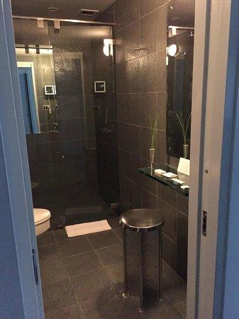 Royalton New York Hotel: Salle de bain en ardoise intégrale