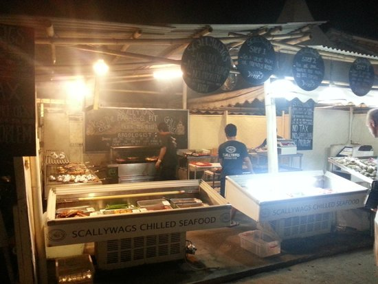 Scallywags Seafood Bar & Grill : The BBQ stall