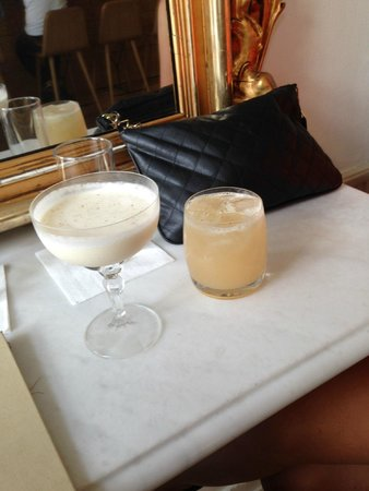 Ruby: our 2 cocktails... Delicious!
