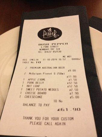 Bush Pepper Bill