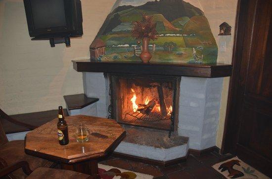 Hacienda Abraspungo: Welcome fire