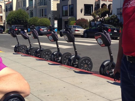 City Segway Tours San Francisco: All parked up