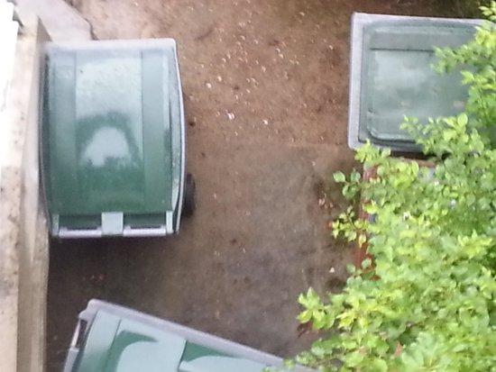 Club Med Vittel Ermitage : vue sur les poubelles chambre 103
