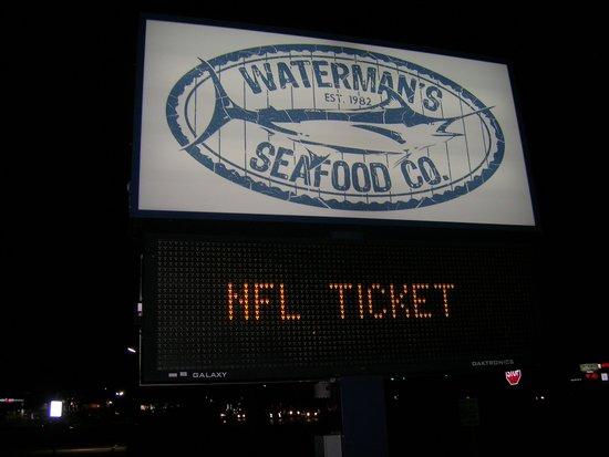 Waterman's Seafood Co: Waterman's Sign
