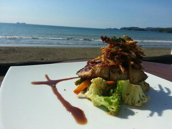 NASU Restaurant: New dish 2015 - Exquisite golden filet glazed with eel sauce served with Cajun potato sticks and