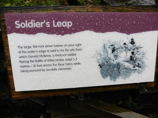 Killiecrankie: The history of the Soldier's Leap.