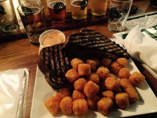 Galena Brewing Company: Reuben w/ sweet potato fries