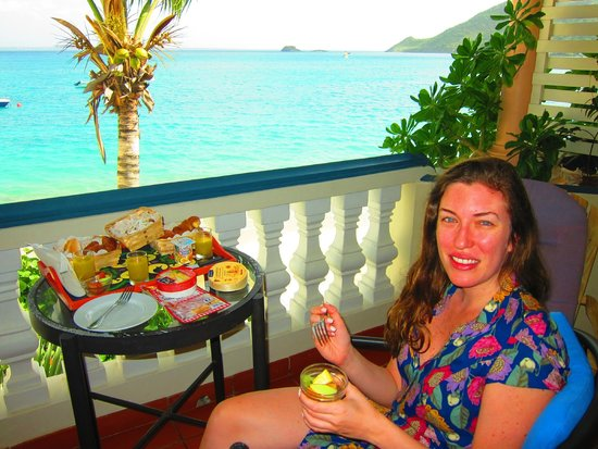 Le Petit Hotel : breakfast with a view