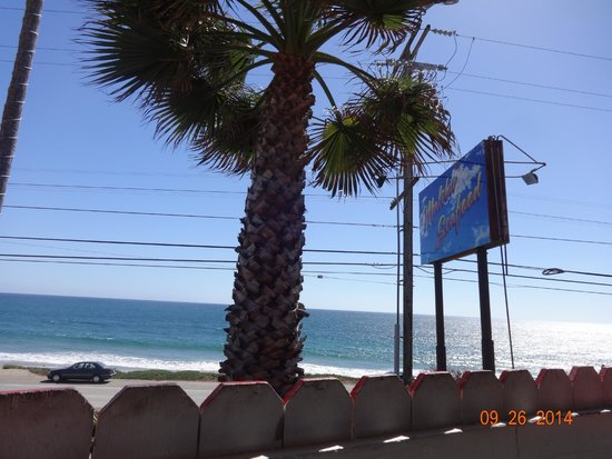 Malibu Seafood Fresh Fish Market and Patio Cafe : View of Malibu Beach from our seating on the 3rd patio