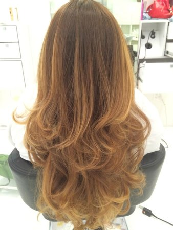 Natural blonde Balayage Ombre , Picture of Doperdoll, Coral