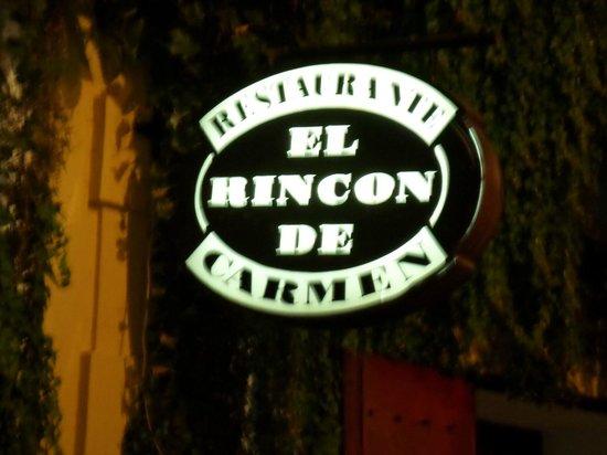 El Rincon de Carmen: Insegna
