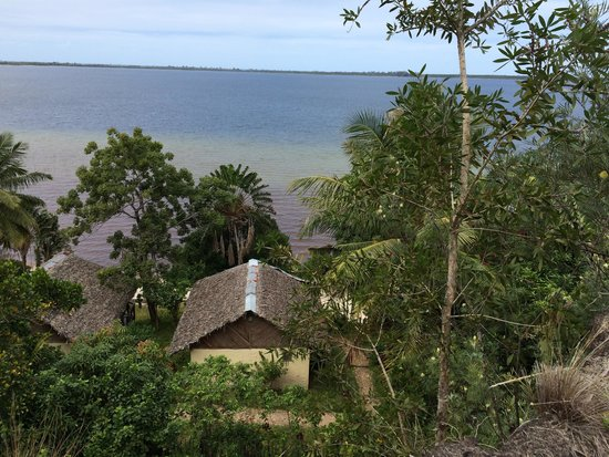 Bushhouse: Our bungalow from hill above