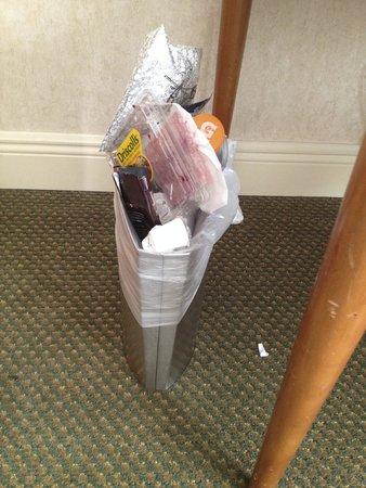 Hilton Tucson East useless wastebasket
