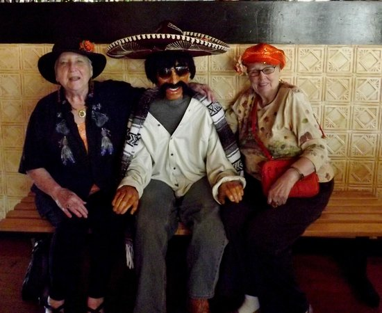Mexicali Rose: Jeri and I with our boyfriend, Jose.