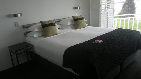 The Tauranga on the Waterfront Motel : Large Bed