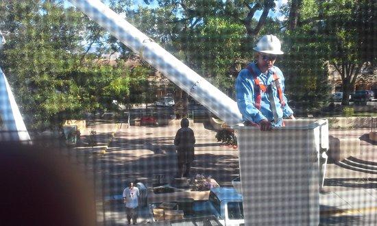 Hotel La Fonda de Taos: First man looking in window