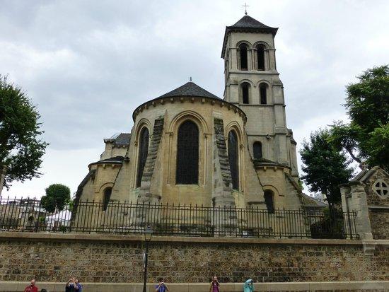 Abside e campan rio da igreja saint pierre de montmartre vistos da rua latera - Place saint pierre paris ...