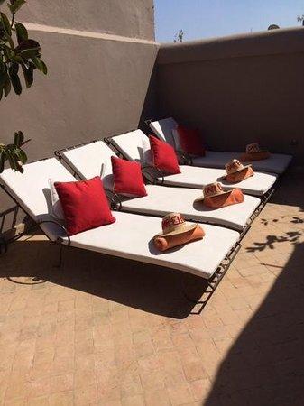 Riad Dar Elma: terrazza con solarium e Jacuzzi