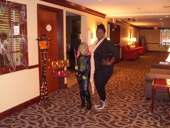 BEST WESTERN Louisville East: My granddaughter Haley and hotel employee Donna T. My granddaughter was on her way to the Louisv