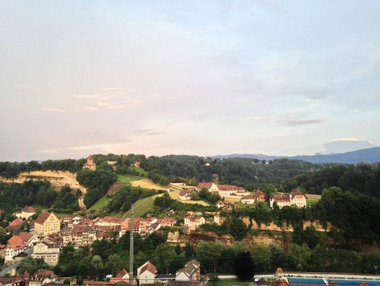 L'Aigle-Noir: View from the terrasse