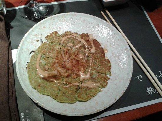 Restaurante De Labra Oviedo : Pizza Japonesa De Verduras Y Algas