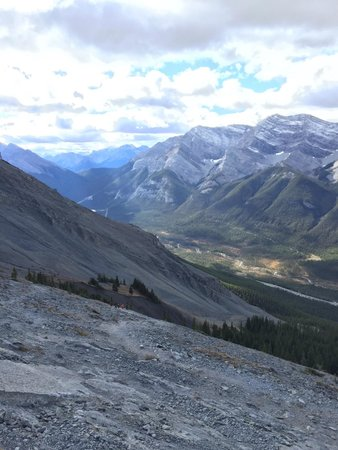 Ha Ling Peak: View from the top.