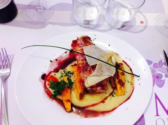 Morelia restaurant : pork loin wrapped in bacon
