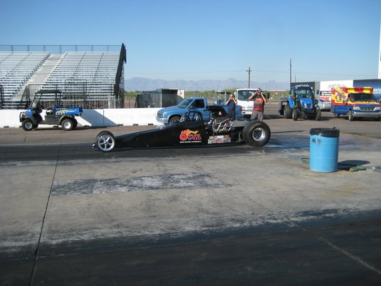 Ready for a burnout! - Picture of Pure Speed Drag Racing Experience