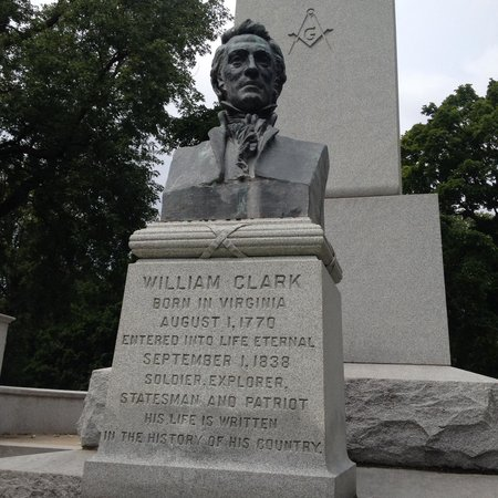William Clark grave at Bellefontaine Cemetery in St. Louis, MO.