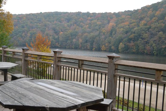 Laurel Hill State Park: Lakeview - View from deck