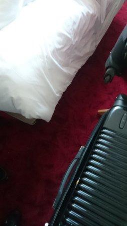 Hotel Le Quartier Bercy Square Paris : Quarto: espaço entre as malas e a cama.