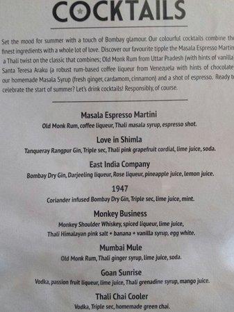 Thali Cafe Southville: Cocktails