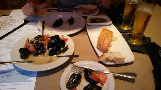 Bonefish Grill: Muscheln in Weinsoße