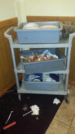 Grand China Buffet: Cart near restroom