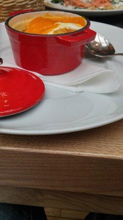 Plzensky restaurant Andel : pieczone jajka