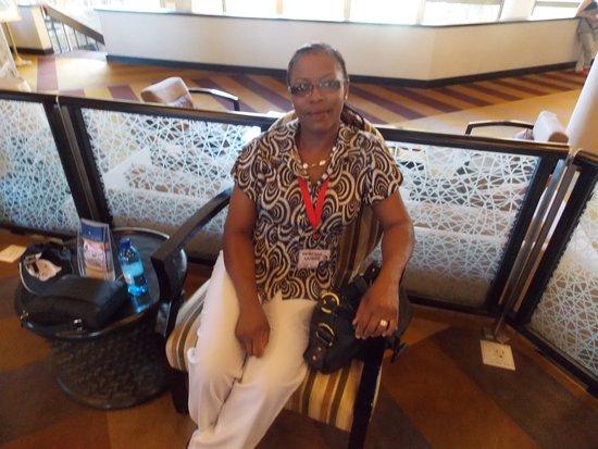 AVANI Maseru Hotel: My wife waiting for transport