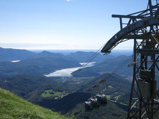 Miglieglia, Switzerland: Monte Lema - Stazione di arrivo