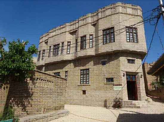 Erbil, Irak: The restored elevation of the Museum