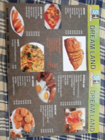 Dream Land Home Stay: Food menu where most of the thing will not be available