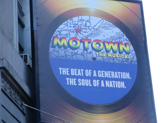 Motown The Musical on Broadway : Outside the theatre