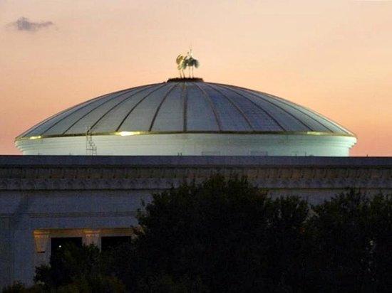Le Grande Plaza Hotel: Ausblick vom Balkon am Abend