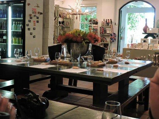 Zevenwacht Cellar & Vineyards: tasting room and gift shop area