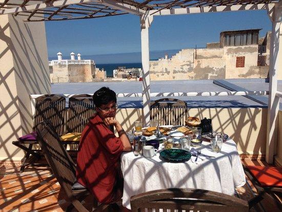 Riad Watier : The roof terrace