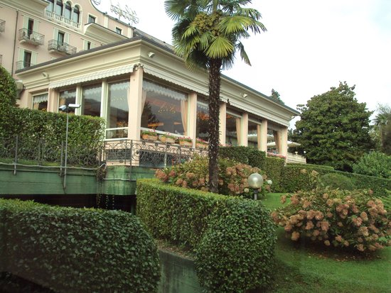 Hotel Simplon: the restaurant place as seen from the gardens